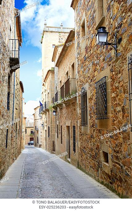 Caceres Calle Ancha street in Spain Extremadura