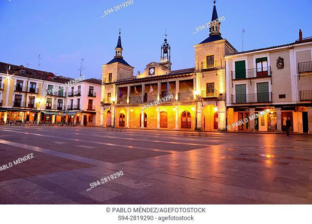 Mayor or Main square of El Burgo de Osma, Soria, Spain