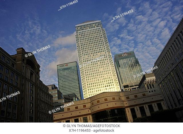 Cabot Place and One Canada Square, London, England
