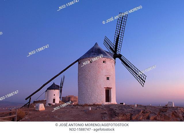 Windmills, Consuegra, Toledo province, Route of Don Quixote, Castilla-La Mancha, Spain