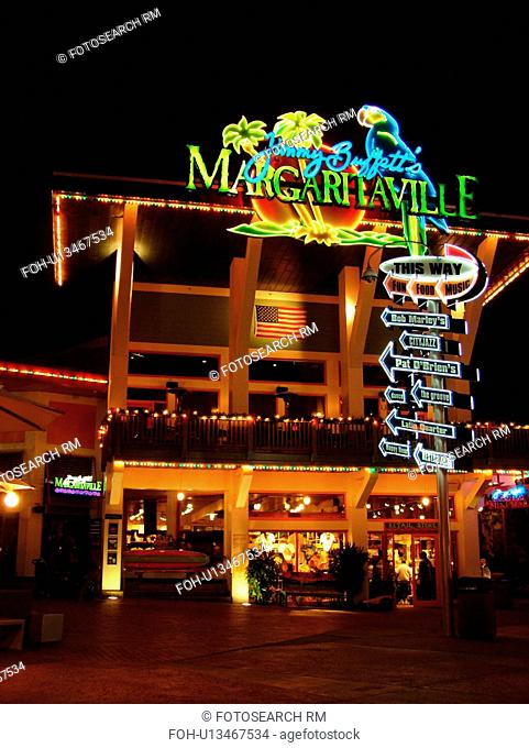 Orlando, FL, Florida, Universal Orlando Resort, Jimmy Buffet's Margaritaville, evening