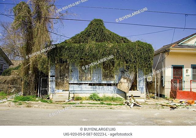 Damaged House after Hurricane Katrina 2005