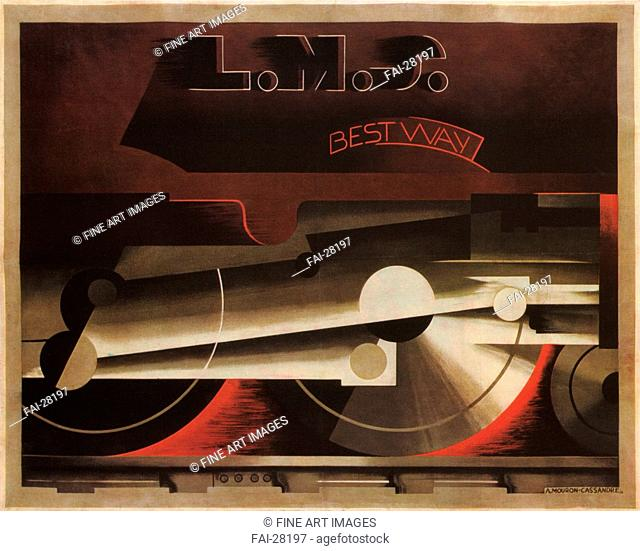 The London, Midland and Scottish Railway (LMS) by Cassandre, Adolphe Mouron (1901-1968)/Colour lithograph/Art Deco/1928/France/Private Collection/100x124/Poster...