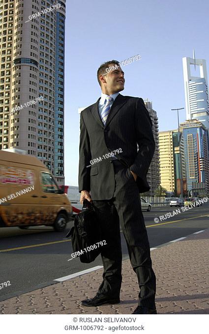 Successful businessman in Dubai (on Shaikh Zayed Road)