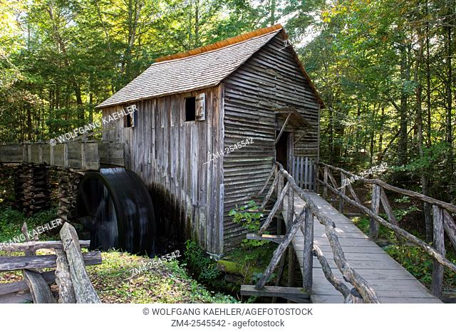 The John P. Cable Grist Mill in Cades Cove, Great Smoky Mountains National Park in Tennessee, USA, was built in the early 1870s