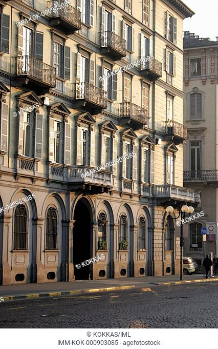 View of the historic centre of the town, Turin, Italy, Europe
