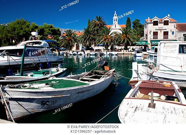 The Sucuraj harbor in the island of Hvar Croatia