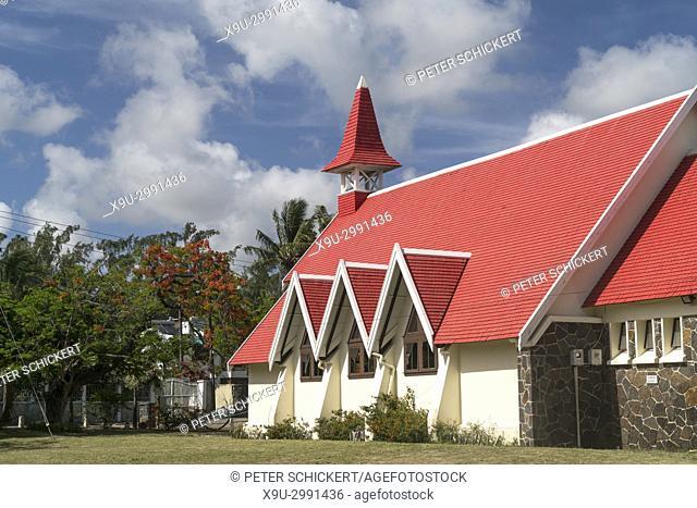 chapel Notre Dame Auxiliatrice at Cap Malheureux, Riviere du Rempart, Mauritius, Africa