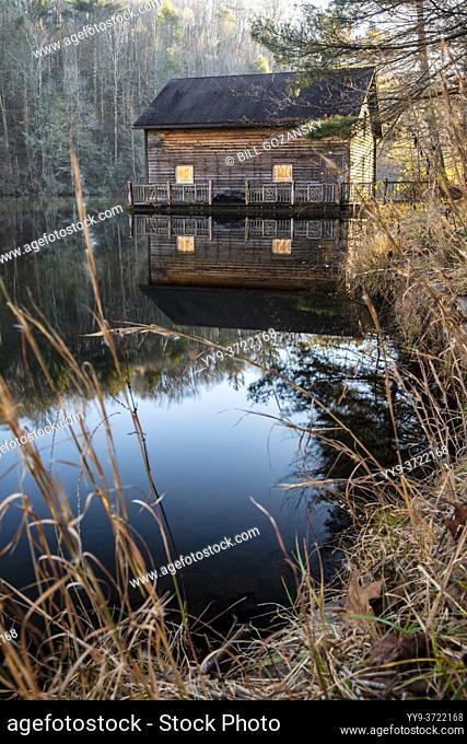 Wooden Boathouse on Lake Julia - DuPont State Recreational Forest - Cedar Mountain, North Carolina, USA