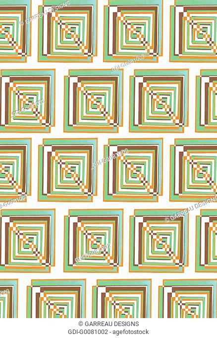Repeating square design