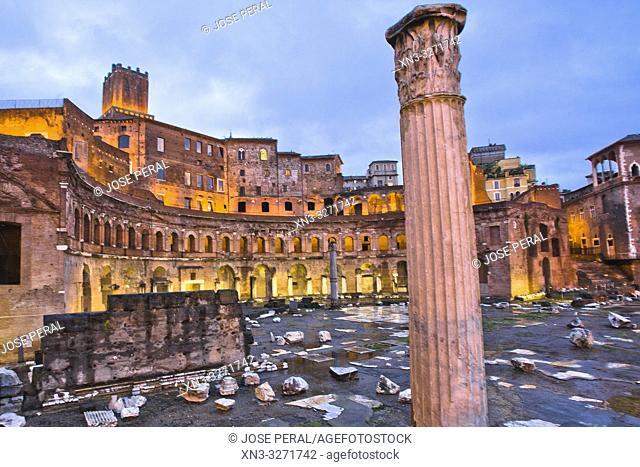 Trajan's Market, Mercati di Traiano, Via dei Fori Imperiali Street, Rome, Lazio, Italy, Europe