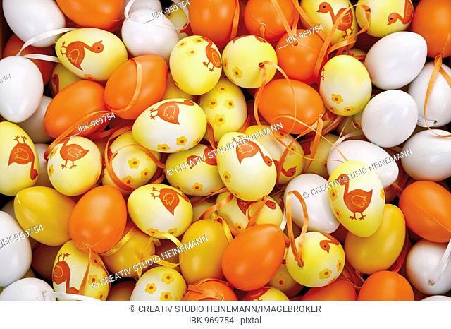 Easter decoration, easter eggs, full frame