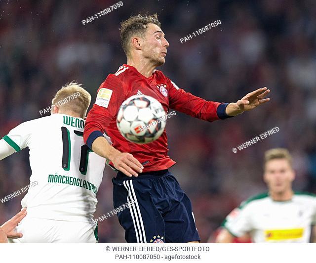 Oscar Wendt (Borussia Monchengladbach) and Leon Goretzka (FCB) in header GES / Football / 1. Bundesliga: FC Bayern Munich - Borussia Monchengladbach, 06