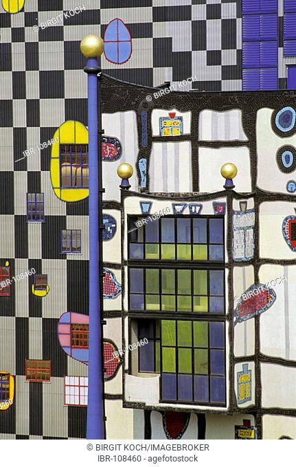 Power and heat supply station Spittelau designed by the artist Friedensreich Hundertwasser, Vienna, Austria NON EXCLUSIVE USAGE FOR CALENDAR, 2015