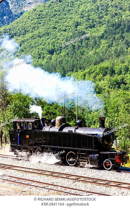 steam locomotive, Villars-sur-Var, Provence, France