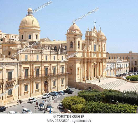Noto Cathedral, Noto, UNESCO World Heritage cultural site, Val di Noto, Province of Syracuse, Sicily, Italy, Europe