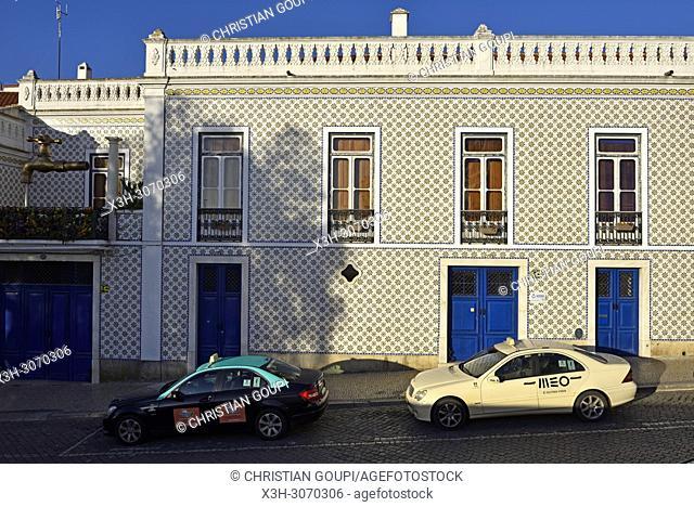 Municipal water company building in Street of St. Andre, Beja, Alentejo region, Portugal, southwertern Europe