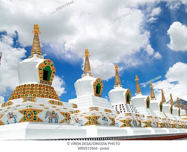 Shanti stupa in leh , Ladakh , Jammu and Kashmir , India