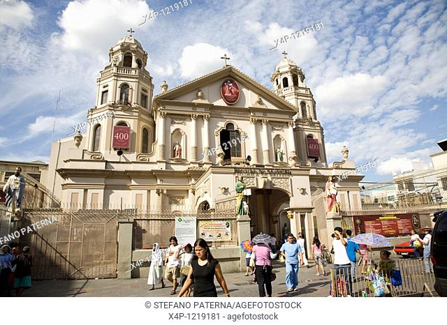 Quiapo Church in Manila. Also called church of the black nazarene. Philippines