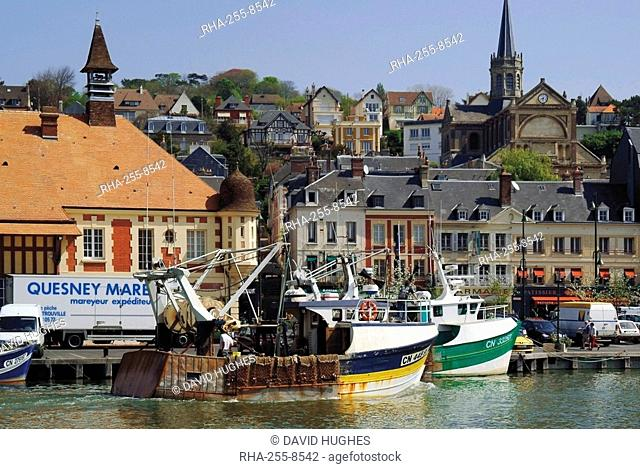 Fishing boats, Trouville, Calvados, Cote Fleurie, Normandy, France, Europe