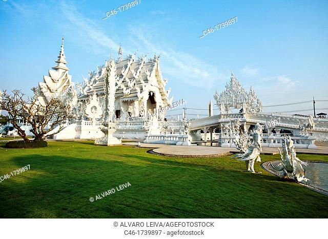 Wat Rong Khun, modern Temple near Chiang Rai, built 1997 - 2004, Chiang Rai Province, Thailand