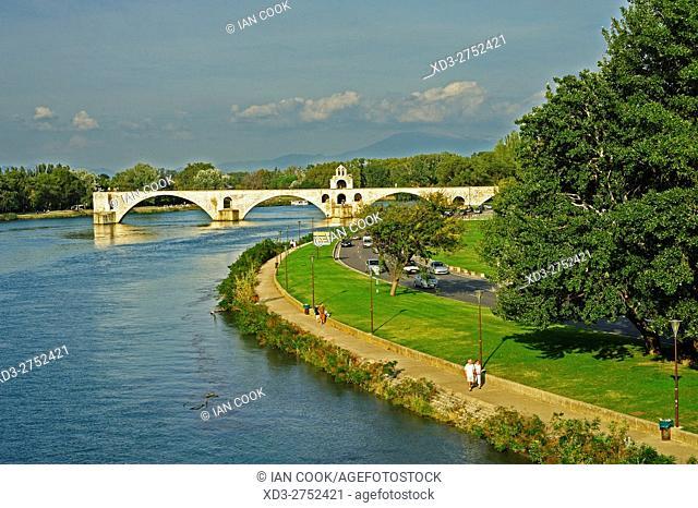 Saint-Bénézet Bridge, Pont dâ. . Avignon, Avignon, Vaucluse Department, Provence, France