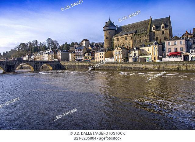 France. Pays de la Loiree, Mayenne, Laval, on the Mayenne river