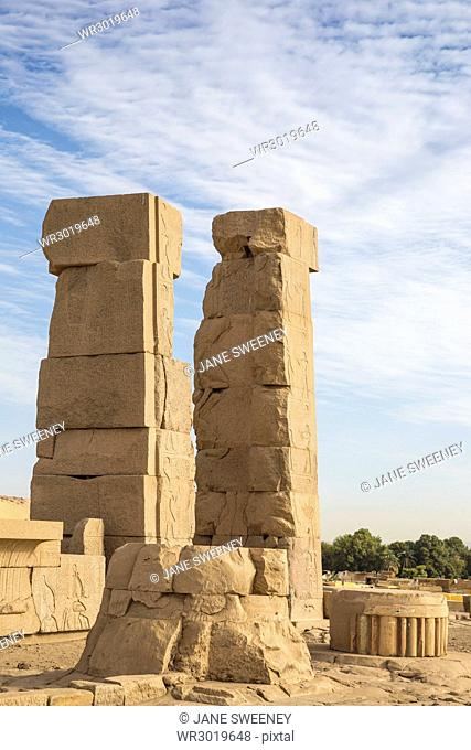 Khnum ruins on Elephantine Island, Aswan, Upper Egypt, Egypt, North Africa, Africa