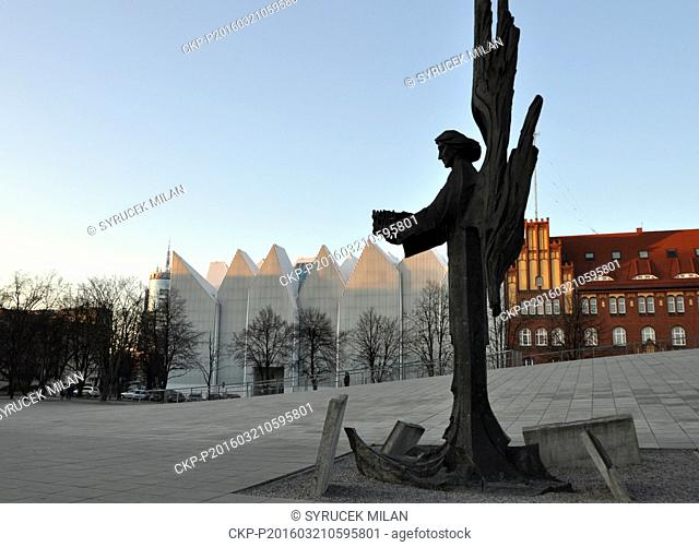 Szczecin Philharmonic Hall by Architect Estudio Barozzi Veiga, 2014, in Szczecin, Poland, on March 17, 2016. (CTK Photo/Milan Syrucek)
