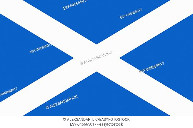 Flag Of Scotland 3D illustration