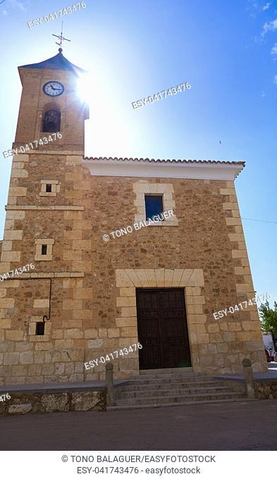Villanueva de Bogas village in Toledo by Camino de Santiago way of levante Spain