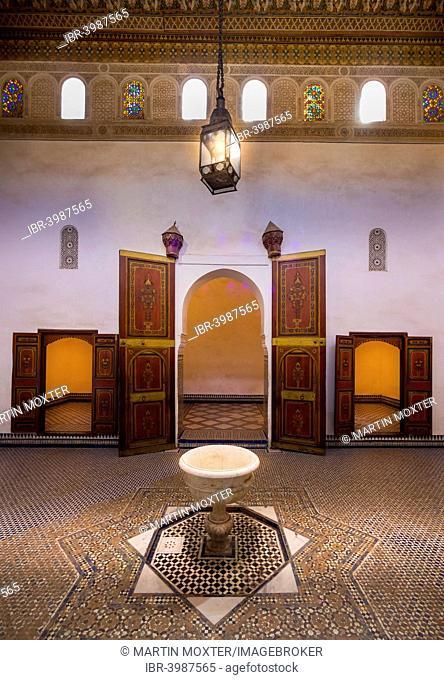 Bahia Palace, Palais Bahia, built on behalf of the Grand Vizier Si Moussa in 1867, Medina, Marrakech, Marrakech-Tensift-El Haouz, Morocco