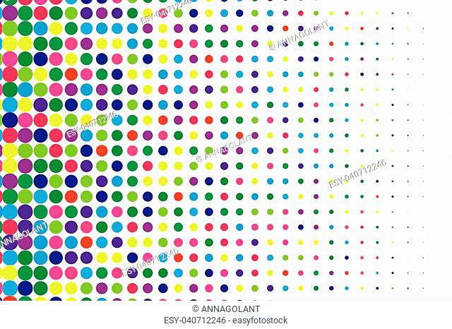 Halftone background. Comic dotted pattern. Pop art retro style. Backdrop with circles, rounds, dots, design element for web banners, posters, cards, wallpapers