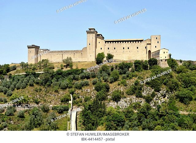 The Rocca Albornoziana fortress, Spoleto, Umbria, Italy