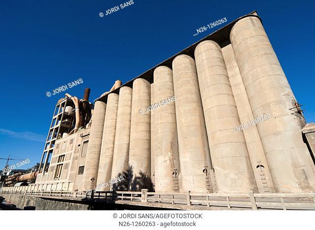 Cement, 'Cementos Molins'  Spain, Catalonia, Barcelona province, Baix Llobregat, Sant Vicenç dels Horts