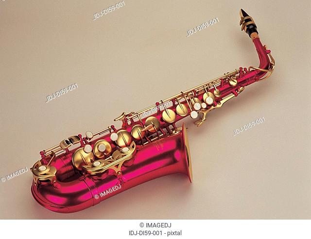 Saxophone on white