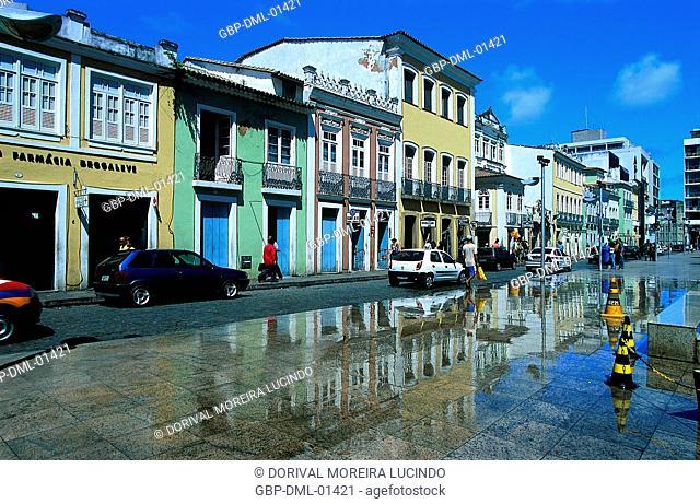 Street, Sé Square, Salvador, Bahia, Brazil
