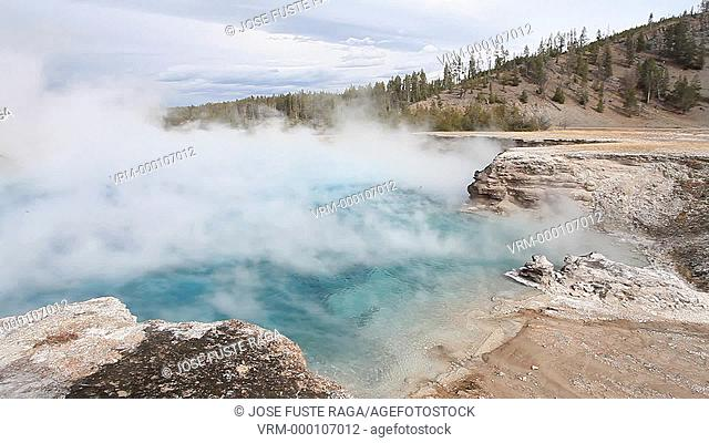 USA-Wyoming-Yellowstone National Park-Excelsior Geyser