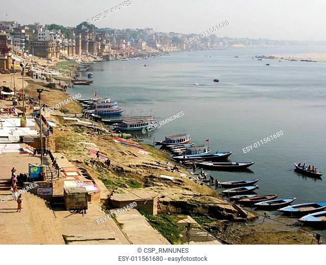The Ganges River in Varanasi