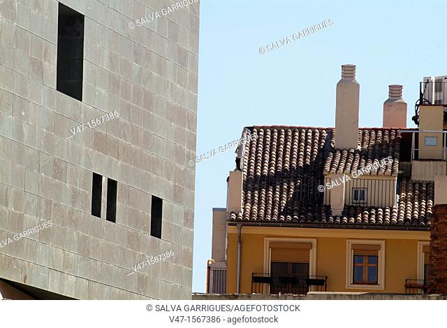 modern and classical in the Barrio del Carmen, Valencia, Spain, Europe
