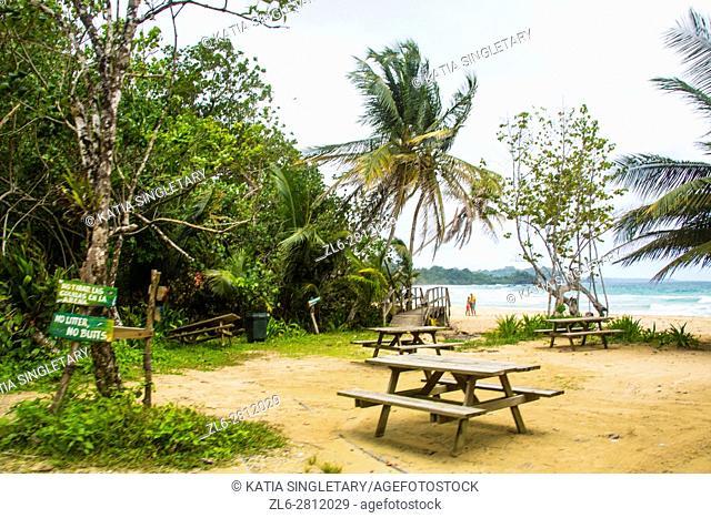 Red frog beach at Isla Bastimentos, Bocas del toro, Panama