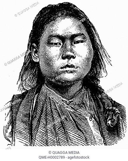 Portrait of a Mongolian woman