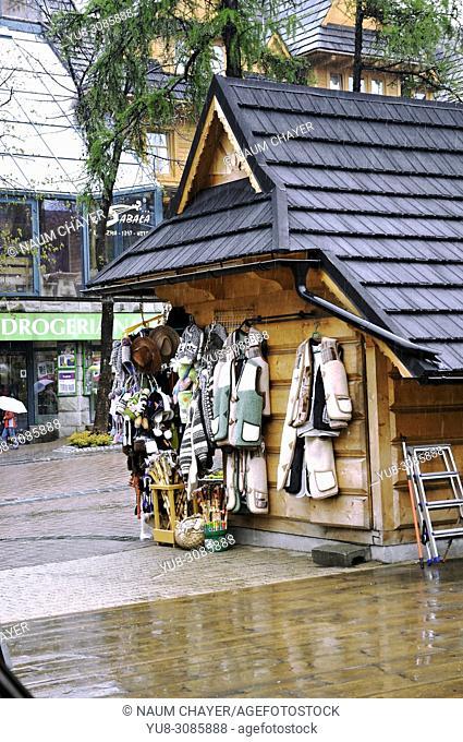 Goods for tourists, Zakopane, Poland, East Europe