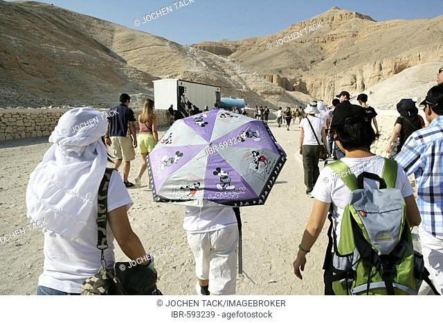 Tourists, Valley of the Kings, Luxor, Egypt, Africa