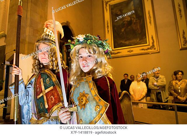 Angels  Mass  Parish Church  La Patum Masterpiece of Oral and Intangible Heritage by UNESCO Berga  Barcelona  Catalonia  Spain