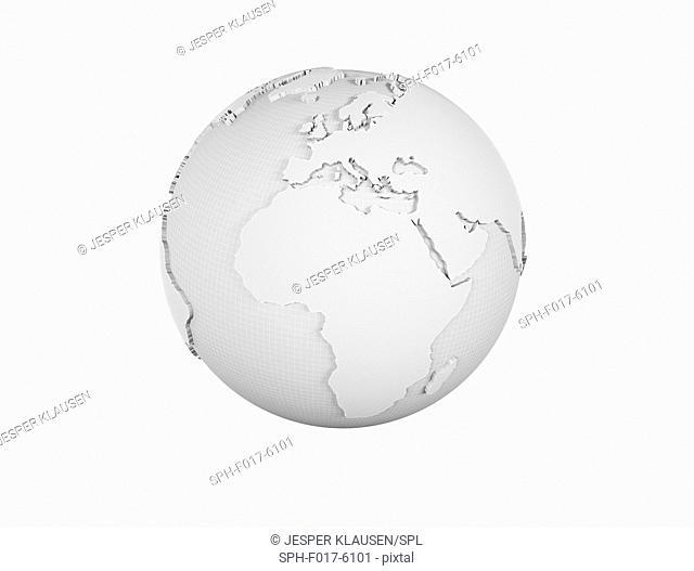 White globe, illustration