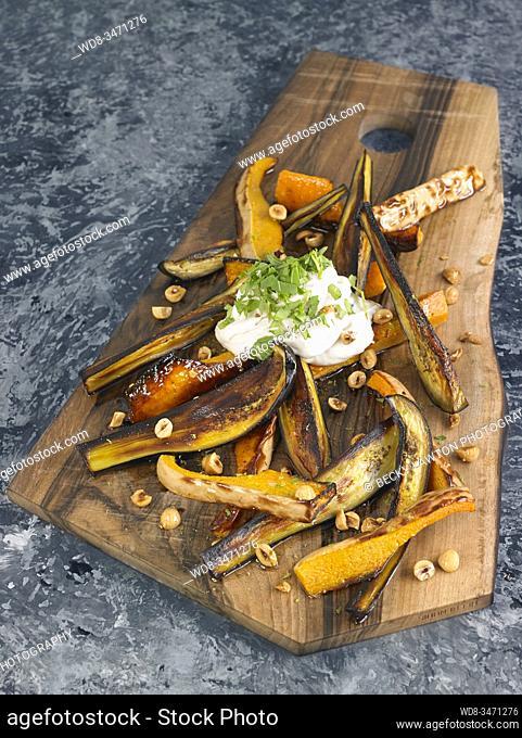 berenjena y calabaza / eggplant and pumpkin