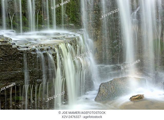 Hidden Falls on Prairie Creek in Nerstrand Big Woods State Park, Minnesota