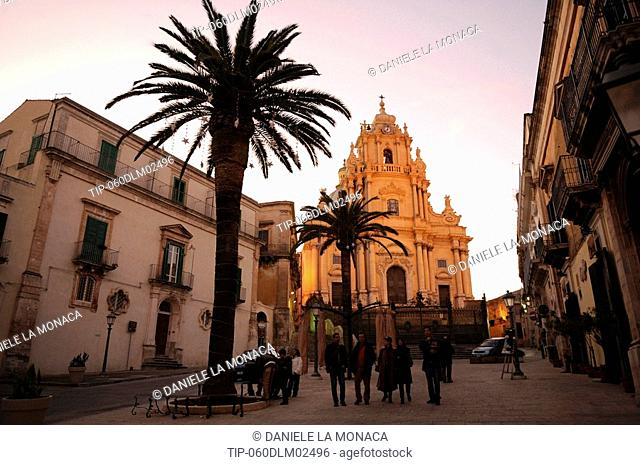 Italy, Sicily, Ragusa Ibla. St. George Cathedral