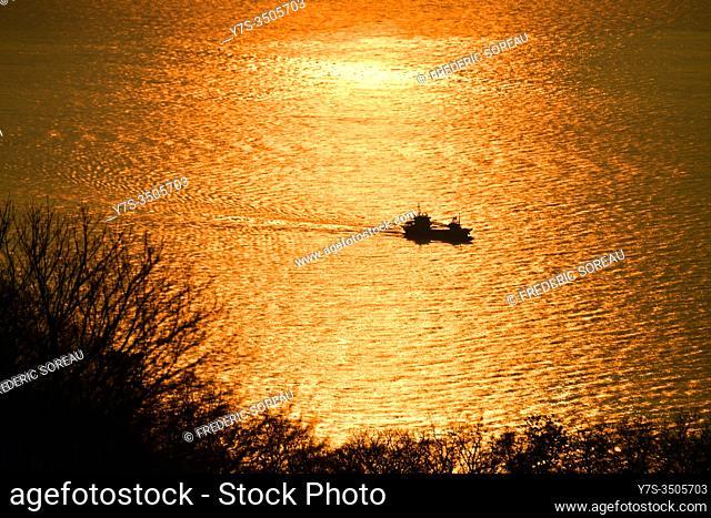 Sunset in Hakodate, Hokkaido, Japan, Asia